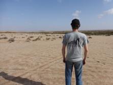 Flo in the desert.